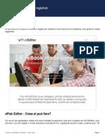 ePubeditor - Registrazione e accesso