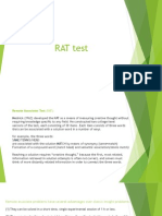 Rat & Wais Tests