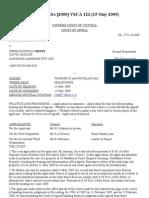 Johnson v Cressy & Ors [2009] VSCA 123 (15 May