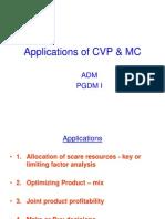 Applications of CVP