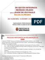 Política de Resíduos Sólidos no Município de São Paulo