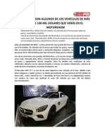 VEHICULOS DE MÁS DE 100 MIL DÓLARES SE OFRECEN EN MOTORSHOW