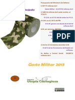 GASTO MILITAR ESPAÑOL 2015