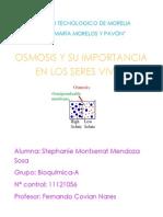Osmosis y Su Importancia en Los Organismos Vivos