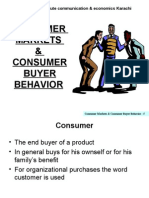 Lecture # 4-Consumer Behavior