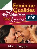 5 Feminine Qualities Book