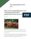 PIB Del Sector Agropecuario Creció 5