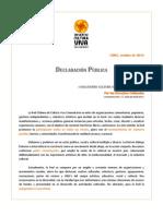 DECLARACION PUBLICA CVC-CHILE OCT. 2014