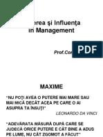 Puterea Şi Influenţa În Management