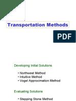 Quantitative Analysis -Transport Method 1