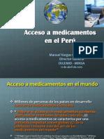 Acceso a Medicamentos en El Peru