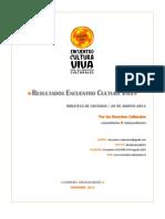 RESULTADOS ENCUENTRO CULTURA VIVA OCT. 2014