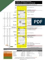 2014-15 official school calendar