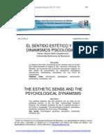 Dinamismos PsicológicosEL SENTIDO ESTÉTICO Y LOS DINAMISMOS PSICOLÓGICOS