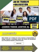 Plan de Trabajo - Dale Gestión CEGAD 2015
