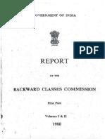 Mandal Commission Report Part - 1