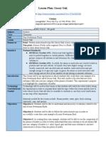 instructional video lesson plan - google docs