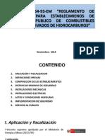 DS N° 054-93-EM Reglamento de seguridad para establecimientos de venta al publico de combustibles liquidos