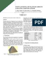 Pyramidal Adaptive Antenna of Plannar Arrays for Satellite Comunications