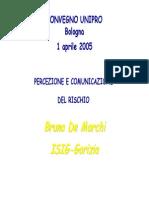 Percezione e Comunicazione Del Rischio - Bruna de Marchi