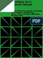 Goldmann, Lucien y Otros - Sociologia de La Creacion Literaria