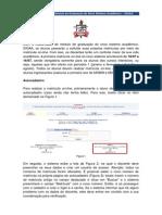 Manual Auto Cadastro e Matricula Sigaa
