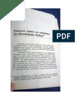 Manuela Da Cunha – Parecer sobre os critérios da identidade étnica