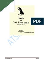 900'üncü Yıldönümü (1040 -1940)