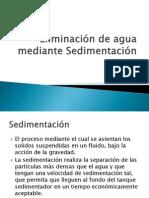 Eliminación de Agua Mediante Sedimentación