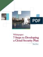 Cloud Security Plan