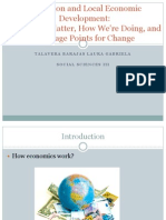 Education and Local Economic Development