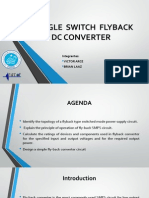 Single Switch Flyback Dc - Dc Converter