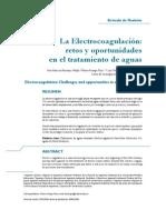 electrocoagulacion para tratamiento de aguas