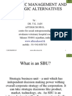 Strategic Management and Strategic Alternatives