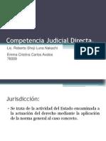 Competencia Judicial Directa
