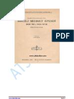 Birgili Mehmed Efendi Bibliyografyası