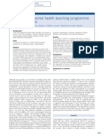 Impact of a Mental Health Teaching Programme on Adolescents