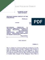 Franklin Baker Company of the Philippines vs. Trajano, G. R. No. 75039, Jan. 28, 1988, 157 SCRA 416