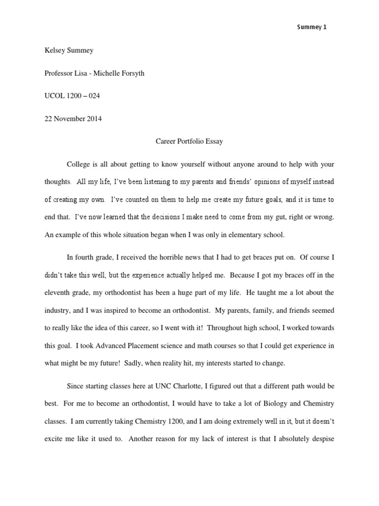 career portfolio essay lawyer master of business administration - Portfolio Essay Example