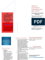 edf 310-07 classroom management portfolio-brochure