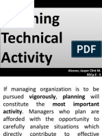 Engineering Management Chapter 3 (Planning Technical Activity)
