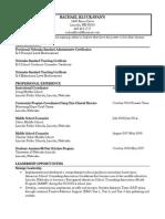 rachael k s brief resume 11 2014