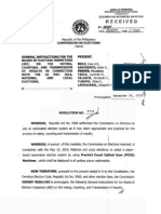 General Instructions for the May 2010 Elections