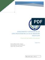 Reporte #2 Conocimiento y Operación de Un Espectrofotómetro Uv-Vis de Absorción Molecular