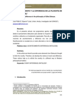 Esperón, J. - El Acontecimiento y La Diferencia en La Filosofía de G. Deleuze (---)