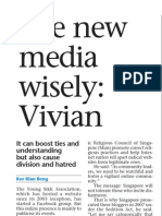 Govt says policies on new media will evolve as new challenges crop up, 22 Feb 2009, Sunday Times