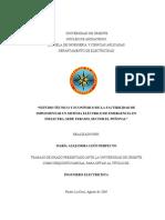 Estudio Técnico y Económico de La Factibilidad de Implementar Un Sistema Eléctrico de Emergencia en Inelectra, Sede Teramo, Sector El Peñonal