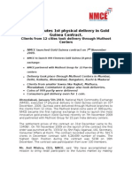 NMCE Press Release 5th January 2010 - Gold Guinea