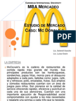 Estudio de Mercado Caso Mc Donalds