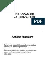 Semana 13 y 14 Finanzas - Métodos de Valorización